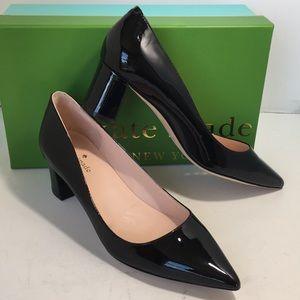 Kate Spade Women's Heels Pumps Black Patent 7.5